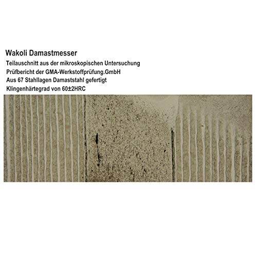 Wakoli 3er Damastmesser Set in Holzbox – VG-10, Edib - 4