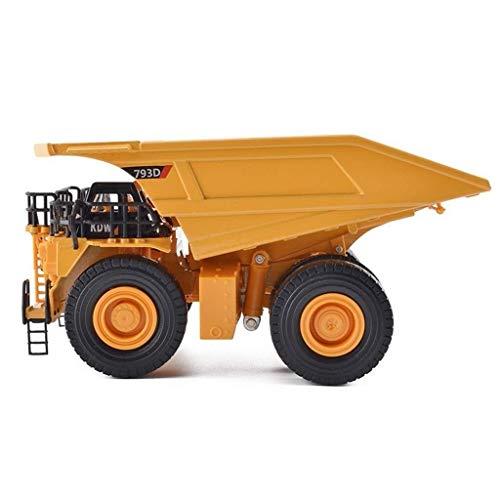 LKOER Modelo de automóvil 1:75 Mining Truck Simulation Alloy Die-Casting Joyry Jewelry Ingeniería Colección de Autos Joyería 19x10.5x9.5cm jinyang
