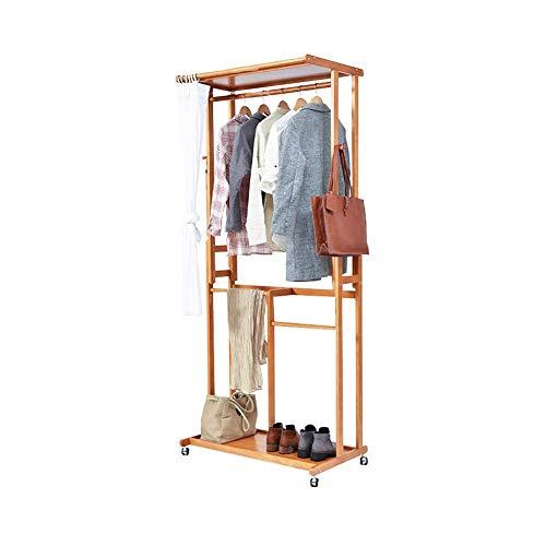 N/Z Living Equipment Coat Racks Coat Rack Multifunctional Wooden Coat Stand bedroom Hanger Floor Rack Storage Rack Simple Modern Clothes Rack