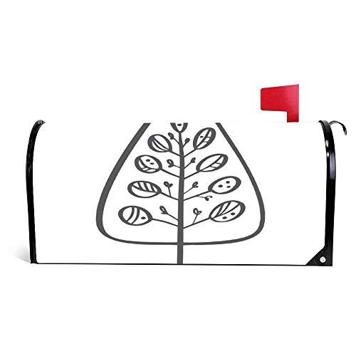 wendana Weihnachtsbaum-Icon-Silhouette, einfache Briefkasten-Abdeckung, magnetisch, Vinyl, für Zuhause, Garten, Dekoration, Briefkasten, Briefkasten, 45,7 x 53,3 cm