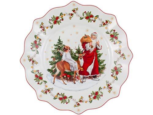Villeroy & Boch Annual Christmas Edition Jahresteller 2020, Premium Porcelain, weiß, 23,5 cm / 0,33 l