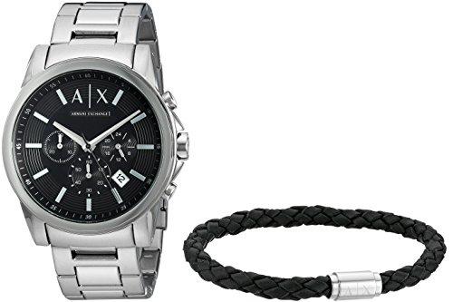 Armani Exchange Reloj Cronógrafo para Hombre de Cuarzo con Correa en Acero Inoxidable AX7100
