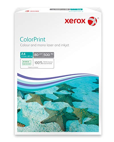 Xerox 003R95248 Premium Farblaser-Papier Druckerpapier DIN A4, 80 g/m², 500 Blatt pro Pack, weiß