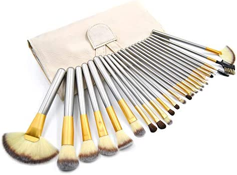 Makeup Brushes Set 24pcs Professional Premium Synthetic Cosmetics Brush Kits With Bag Silver product image