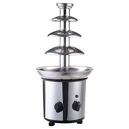Sportstorm 4 Tiers Commercial Stainless Steel Hot Chocolate Fondue Fountain