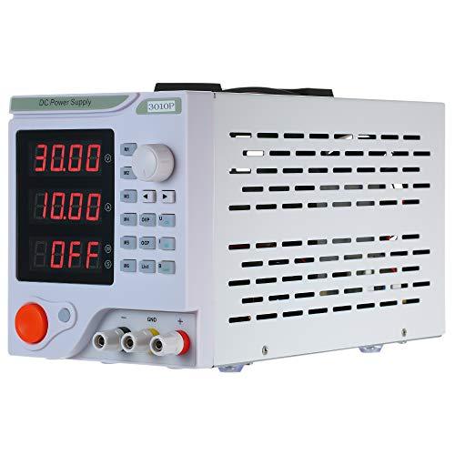 Baugger 4 Dígitos Display Led Programable Alta Precisión Variable Ajustable 0-30V 0-10A Dc Fuente de Alimentación Conmutada Regulación Digital de Laboratorio Grado Fuente de Alimentación Estabilizada