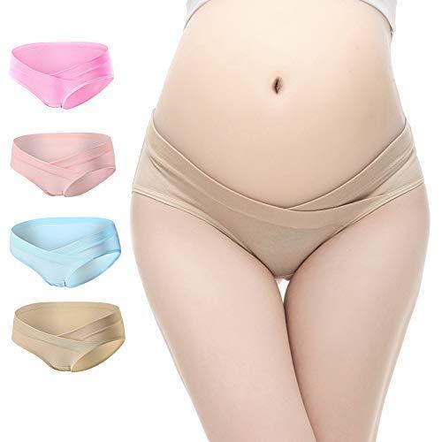 CYCLETRACK マタニティショーツ ローライズ 妊娠専用パンツ 産前 産後 妊婦用 レディースショーツ 女性の妊娠中のマタニティ 下着 高弾性 肌にやさしい 綿 4枚組 (3L)