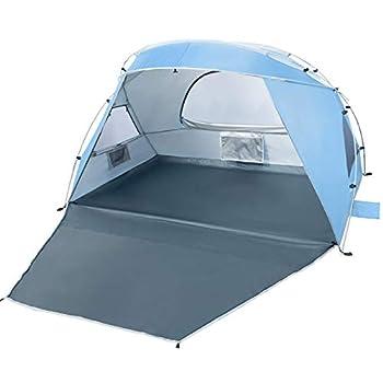 Forceatt 2-3 Personnes Tente d'ombre de Camping de Plage, écran Solaire UPF50 +, Installation Simple, portabilité Lumineuse, Le Premier Choix pour Les Vacances à la Plage en Camping de Plage