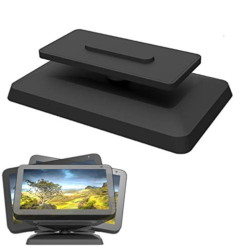 Soporte ajustable para Echo Show 8, soporte giratorio de 360 grados, base magnética para altavoz inteligente (negro)