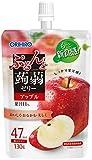 ぷるんと蒟蒻ゼリー 低カロリー アップル 130g