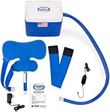 Polar Active Ice 3.0 Cold Therapy Ice Machine System with Programmable Timer, Shoulder Compression Pad, Lightweight 9 Quart Cooler Freeze Kit, Quiet Pump, Strong Cyrotherapy Pain Relief and Treatment