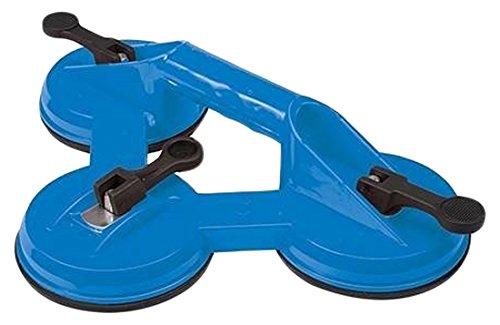 Silverline 868582 - Ventosa Triple para Transporte de Materiales Pesados, Azul