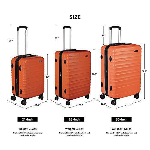 AmazonBasics 68 cm Burnt Orange Hardsided Check-in Trolley