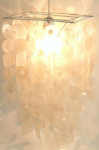 Retro Muschel Deckenlampe `seventy` / Oceanlights-Muschelleuchten/ Variante: Farbe: weiß