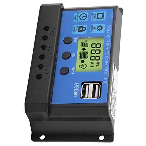 Regulador de carga solar, controlador de carga solar Los parámetros de carga y descarga de 12 V se pueden ajustar para estudio, tienda, hogar, trabajo(YJSS-30A)