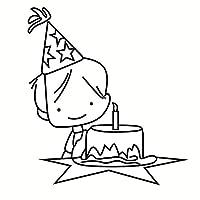 ケーキの男の子透明シリコンクリアラバースタンプシートしがみつくスクラップブッキングDIYかわいいパターンフォトアルバム紙カードの装飾