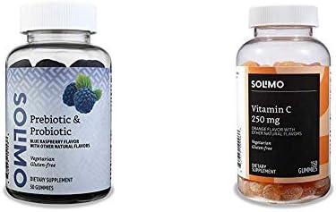 Amazon Brand - Solimo Prebiotic & Probiotic 2 Billion CFU, 50 Gummies (2 Gummies per Serving)