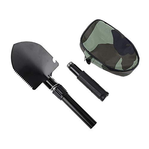 Metalldetektor im Freien Digger Grabtool Gold Finder Folding Shovel Camp Spade (Color : Black)