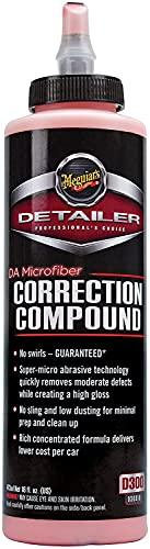 Meguiar's DA Microfiber Correction Compound – Auto Compound Removes Surface Defects – D30016, 16 oz