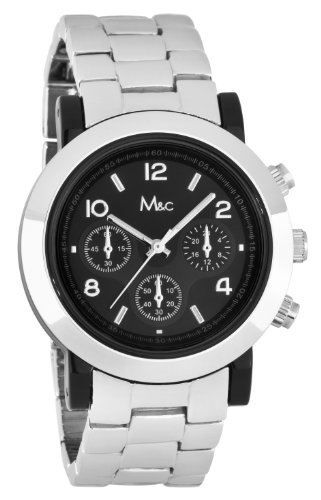 M & C fc0385–Armbanduhr Damen, Armband aus Metall Farbe Silber