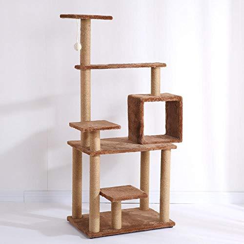 Axiba Spelen torens bomen voor katten massief hout kat klimmen frame kat boom kat nest kat springen platform voor het slapen spelletjes 40cm* 60cm * 138cm, BRON