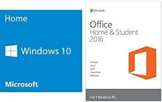 Windows 10 Home 64 Bit System Builder OEM with Microsoft Office Home and Student Key Card