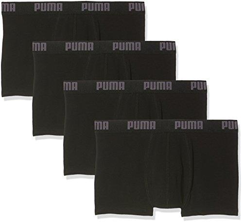 PUMA Herren BASIC Shortboxer Boxershort Unterhose 4er Pack schwarz/schwarz/schwarz/schwarz 200 - XL
