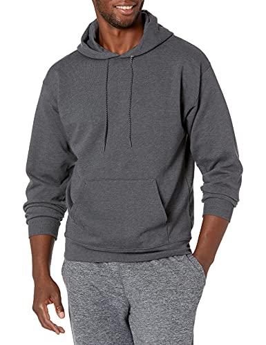 Product Image of the Hanes Men's Pullover EcoSmart Hooded Sweatshirt, Charcoal Heather, S