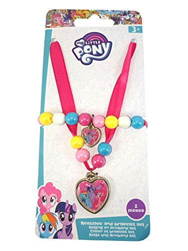 My Little Pony Rainbow Dash & Pinkie Pie Ribbon Necklace & Bracelet Set