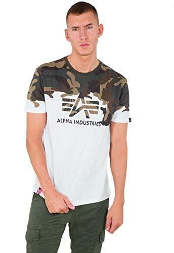ALPHA INDUSTRIES Lost T Camiseta, wdl Camo 65, 3 XL para Hombre