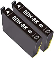 EPSON エプソン 用 RDH-BK ブラック 増量版 2本セット 残量表示可能 ICチップ付 互換インクカートリッジ【1年保証付】 対応機種:PX-048A / PX-049A