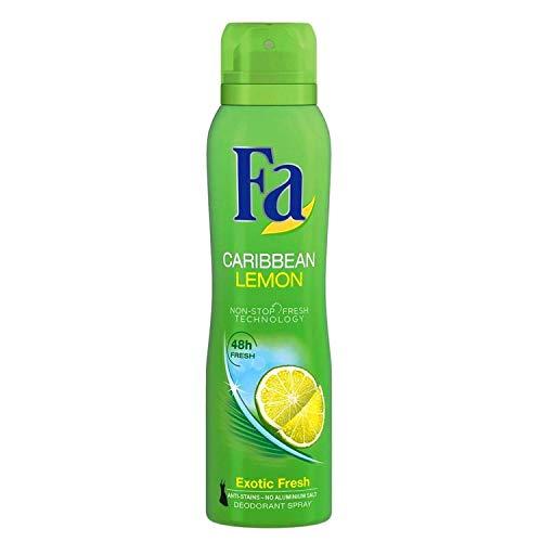Fa Deospray 48H Caribbian Lemon 6er Pack Exotisch frischer Duft (6x 150ml)