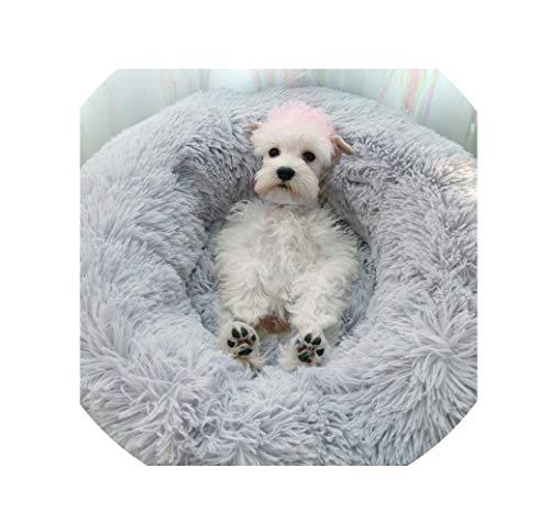 NEVERLAND003 Winter Warm Cotton Pet Bed Small Dogs Breathable Cat Mat Deep Sleeping Soft Pet Cat House Support,Grey,70X20Cm