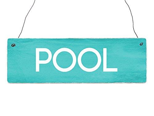 Interluxe Shabby Vintage Schild Türschild Pool Türschild Deko Wellness Freizeit Sport