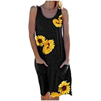 Tosmy Women's Summer Sleeveless T-Shirt Dress
