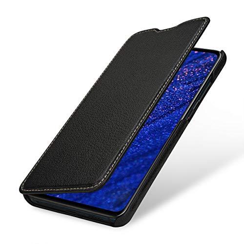 StilGut Lederhülle für Huawei Mate 20 Book Type, schwarz