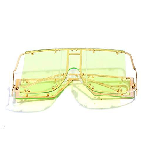 PUK Übergroße Sonnenbrillen Frauen Sonnenbrillen Männer Vintage Sonnenbrillen Retro Square Herren Sonnenbrille Rihanna Sonnenbrille, 6