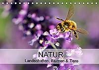 Natur Landschaften, Blumen & Tiere / Geburtstagskalender (Tischkalender 2022 DIN A5 quer): Naturkalender mit Landschaften und Makroaufnahmen (Geburtstagskalender, 14 Seiten )