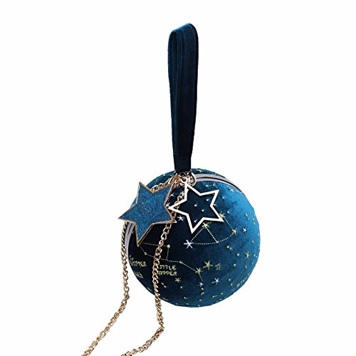 JUSTYOU-POPO Bags from the Universe ~ Limited Customized Planet Pack Velvet Star Balls Round Bags Personalized Women's Bags Ditty