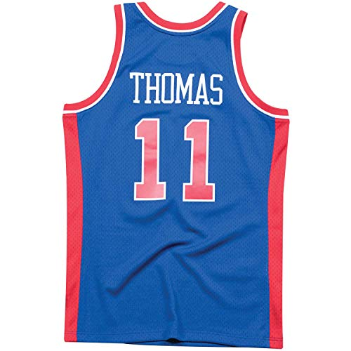 Mitchell and Ness Thomas Royal Pistons #11 Swingman Jersey Royal S