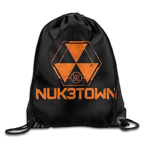Call of Duty Black Ops 3 Logo Travel Gym Bag Drawstring Backpack/Rucksack,Drawstring...