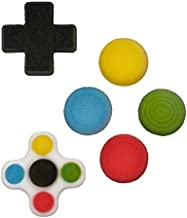 National Cake Supply Video Game Controller Gamer Buttons Edible Sugar Decorations - 12 Count - 49593