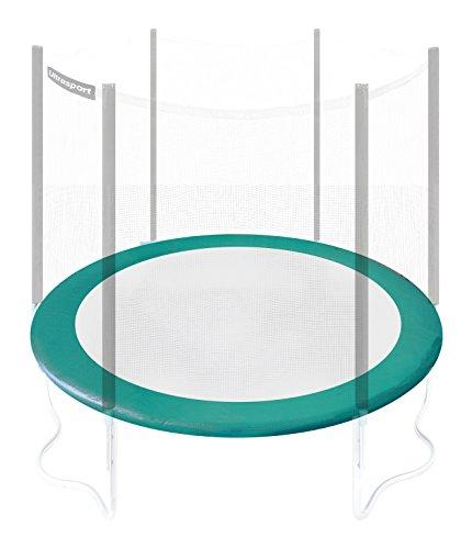 Ultrasport Randabdeckung für Gartentrampolin Wave (Modelle ab Mai 2014), Trampolin Zubehör Randschutz in der Farbe Grün, Trampolin Federabdeckung für Durchmesser 251 bis 430 cm, 366cm