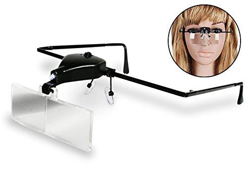Eyelash Extension Supplies - MAGNIFIER GLASSES - LED LIGHT - For Applying Eyelashes, Eyebrow Treading, or Esthetician Close Up Work