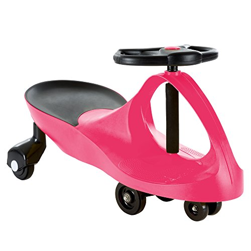 Ride On Car, No Batteries, Gears or Pedals, Uses Twist, Turn, Wiggle Movement to Steer Zigzag Car-Pink, for Toddlers, Kids, 2 Years Old and Up JungleDealsBlog.com