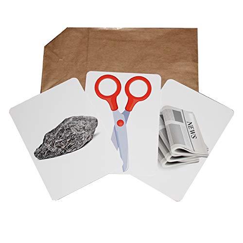 Zaubertricks und Zauberartikel SCHNICK SCHNACK SCHNUCK Zaubertrick, Mental-Magie mit dem Klassiker Stein Schere Papier, Karten-Trick im Großformat
