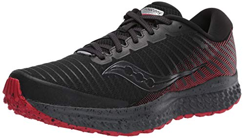 Saucony Guide 13 TR Trail running shoe Men Black / Red Size : 43