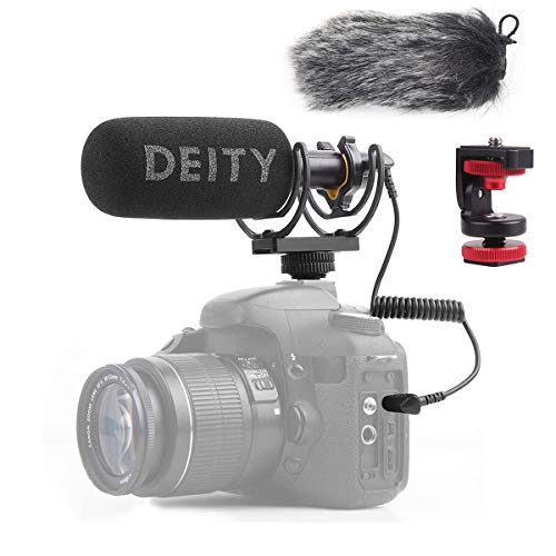 Deity V-Mic D3 Super-Cardioid Directional Shotgun Microphone with Rycote Shockmount and PERGEAR Cloth for DSLRs, Camcorders, Smartphones, Tablets, Handy Recorders, Laptop and Bodypack Transmitters Broadcast Grade Shotgun Microphone