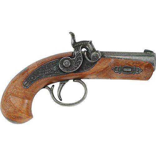 Classico di carnevale: la pistola giocattolo fa battere i cuori dei pirati ed è il complemento perfetto per qualsiasi costume da pirata. Qualità robusta: la pistola è ricca di dettagli ed è realizzata in metallo e plastica. In questo modo il giocatto...
