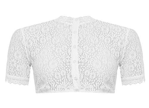 Tramontana Damen Trachten-Mode Dirndlbluse Gine in Weiß traditionell, Größe:46, Farbe:Weiß